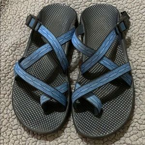 Chaco Blue slides Strappy Sandals Excellent